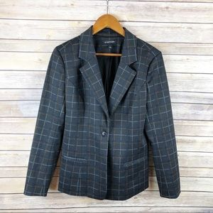 Stitch Fix 41Hawthorn Plaid Langley Ponte Blazer L
